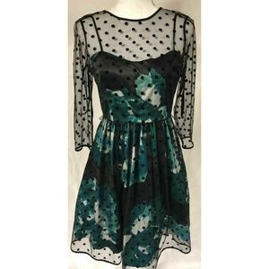 Eliza J Women's Black & Green Dress Size 6P